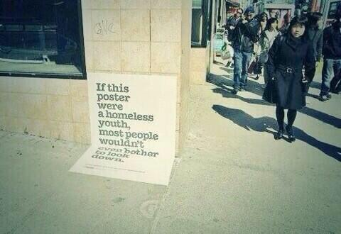 If this poster were a homeless youth... http://t.co/DM9ivkdG7o