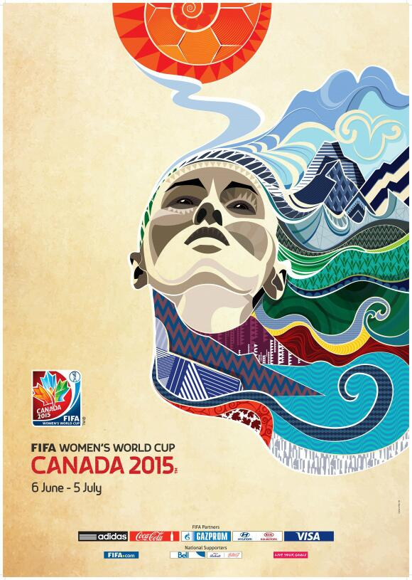 Just saw the Womens World Cup poster for the first time. It's pretty damn awesome #Canada2015 http://t.co/9WQbarWjdu
