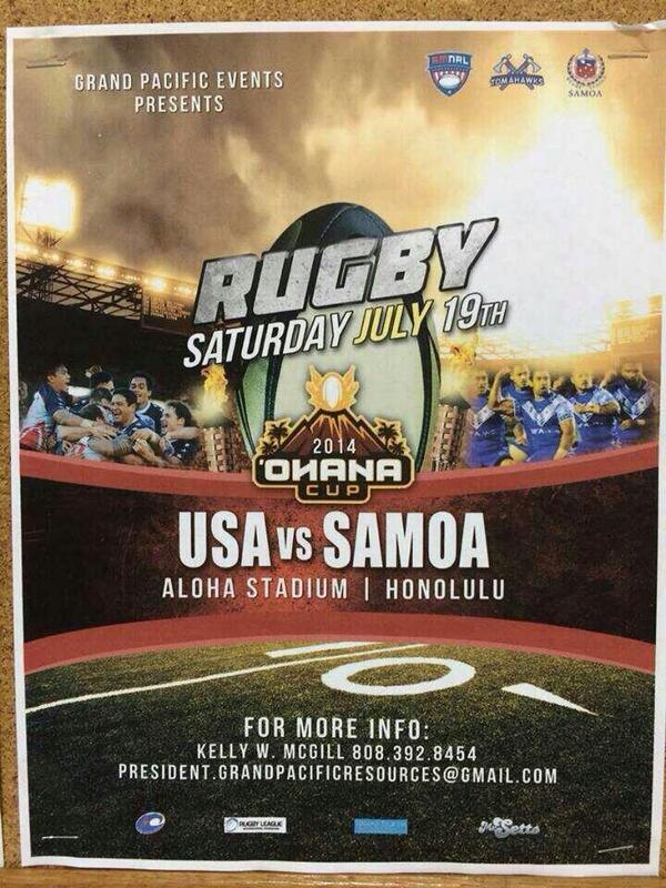 Saturday, July 19! @RLSamoa @amnrl @USATomahawks @RLW_Mole @sefapaulo @RealtimeRugby  @Anthony_Wiggle #ShockTheWorld http://t.co/xIBwzUKI9o