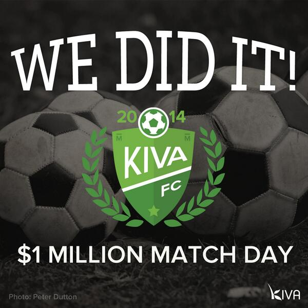 We did it! Thanks for helping make $1 Million #MatchDay a huge success and changing lives around the world! http://t.co/c5bYZNwkac