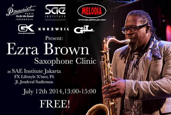 TODAY-I'm Doing a Saxophone clinic at @SAEjakarta (Thankyou @PMauriatID @BarryLikumahuwa http://t.co/92wAIfWaOh