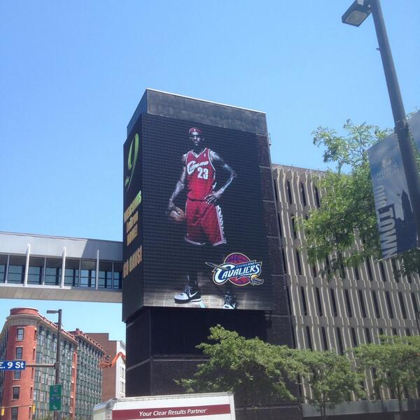 LeBron is back. This just went up on Prospect and East 9th http://t.co/feHvdOKGKM