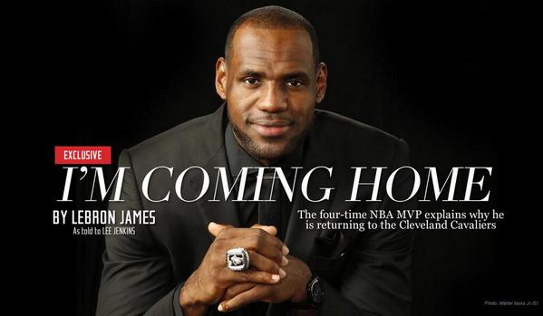 LeBron James Returns To Cavaliers -- http://t.co/qpD83rFqcz http://t.co/akIQqh2JQE