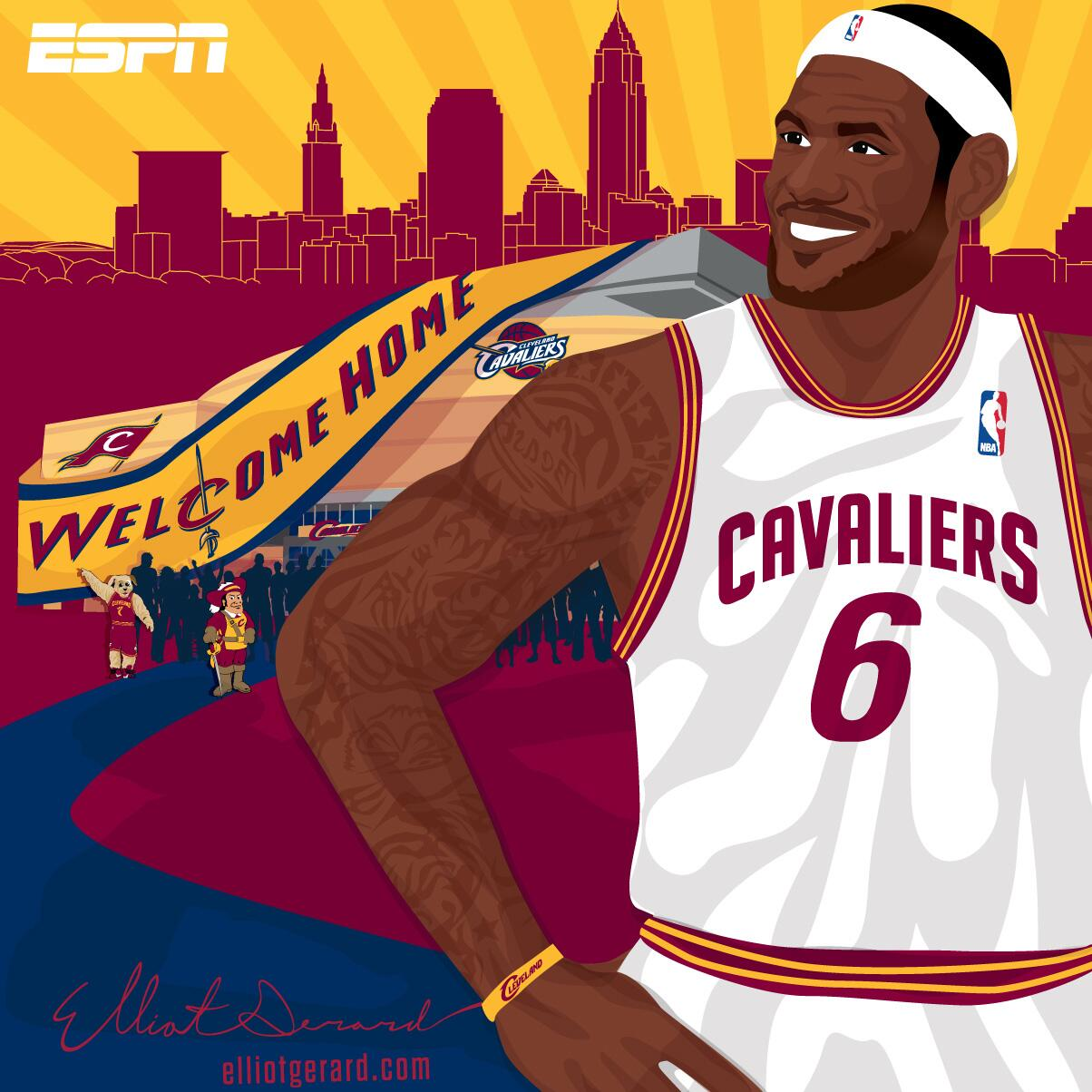 It's official. LeBron James is headed home. http://t.co/ZvwmK354Pf
