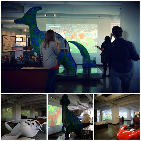 We've been enjoying the #WorldCup in style. 9+ screens, 20+ design exhibits, 1 giant dino. #QuirkySummer http://t.co/i0ckE6WCSE
