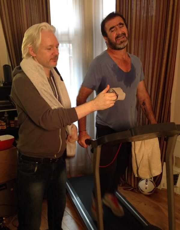 this just happend.... #assange #cantona #worldcup2014 @wikileaks http://t.co/tBp6a1VghC