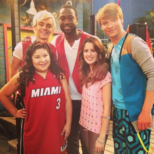 RT @tylergillligan: Breaking news: D-Wade retires and joins Disney. #Austin&Ally http://t.co/ueFCzMOK6J