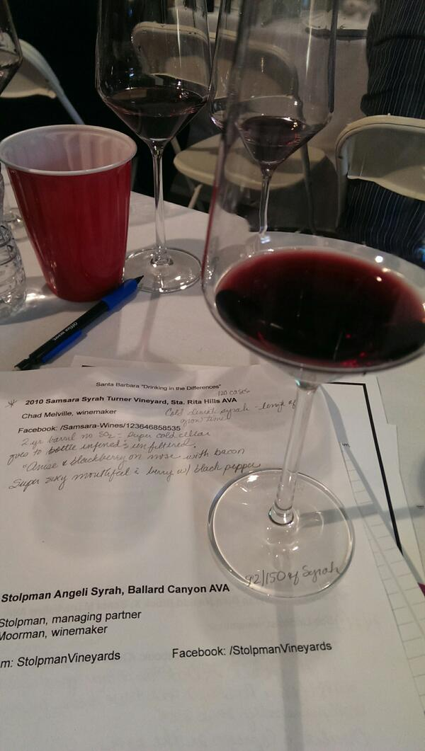 Awesome Syrah from Samsara Wines Sta. Rita Hills  AVA at San Francisco Wine School tasting  #Wine  http://t.co/IOqkLos7XX