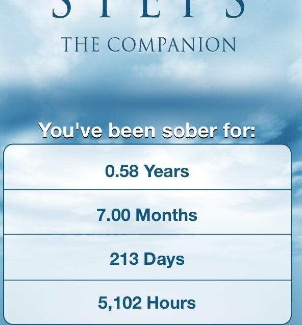 I'm 7 months sober today and very grateful for it, my life, my wife and my family. I am a blessed man. http://t.co/wM2PujWSFs