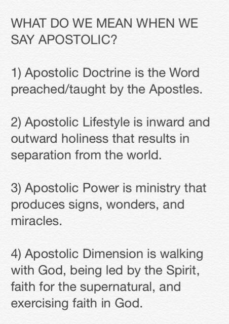 WHAT DO WE MEAN WHEN WE SAY APOSTOLIC? http://t.co/zcEJjOUblz