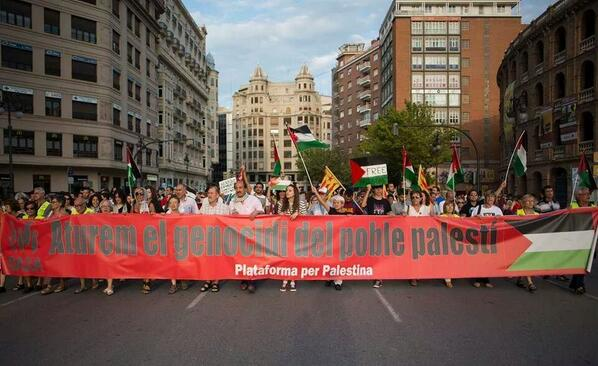 #Barcelona is for #Gaza ..stop the genocide in #Palestine #GazaUnderAttack http://t.co/aO0QTqrBvh