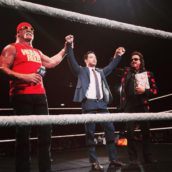 そして!!!  本日、WWEスーパースターKENTAが誕生しました!KENTAの今後の活躍を日本のWWEユニバース全員で応援しましょう! #2014wwejp #wwe_jp http://t.co/Wc9tJMCzA5