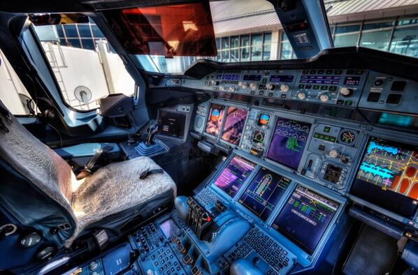 Airbus A350 XWB Cockpit Aviation