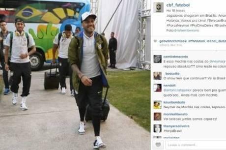 Neymar usa mochila e suscita  #BrazilVsNetherlands http://t.co/3CW2ifSgbi