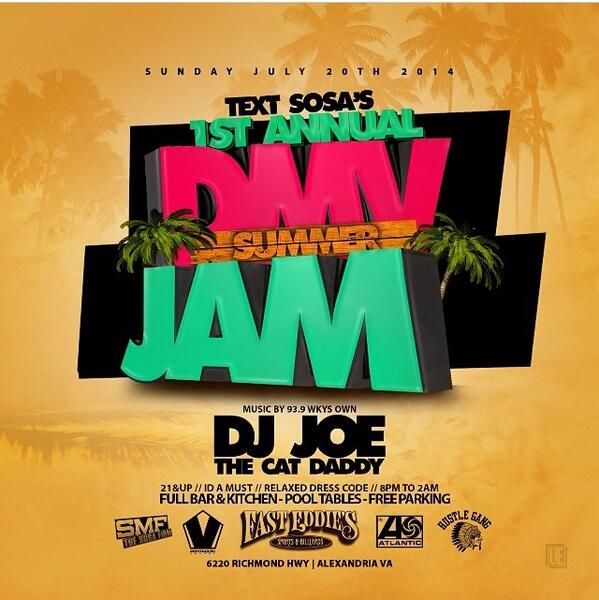 You wanna be in the place that everyone else is going to be at ?? Make sure you come out to the #dmvsummerjam2014 http://t.co/94acNPwzUO