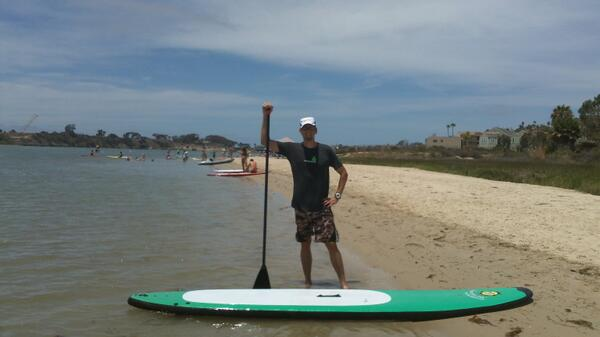 Snap of @ZenTriathlon SUP at the Carlsbad Lagoon http://t.co/OUJ3PVn4aU