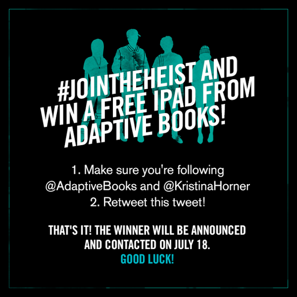 I'm hosting a giveaway for the new YA novel #CoinHeist! RT this & win an iPad! #JoinTheHeist http://t.co/QDAMGETGgu http://t.co/QUh4O7omxC