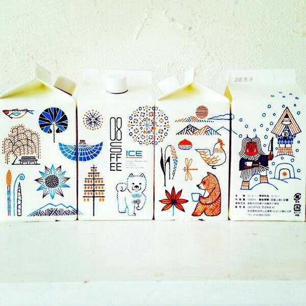 秋田でお世話になっている08珈琲さん。 アイスコーヒーのパッケージにイラストを描かせていただきました。 秋田の四季が描かれています。 通販もできるそうですよー。 http://t.co/Fr6ug4YoPi http://t.co/8ww0P9NAoA