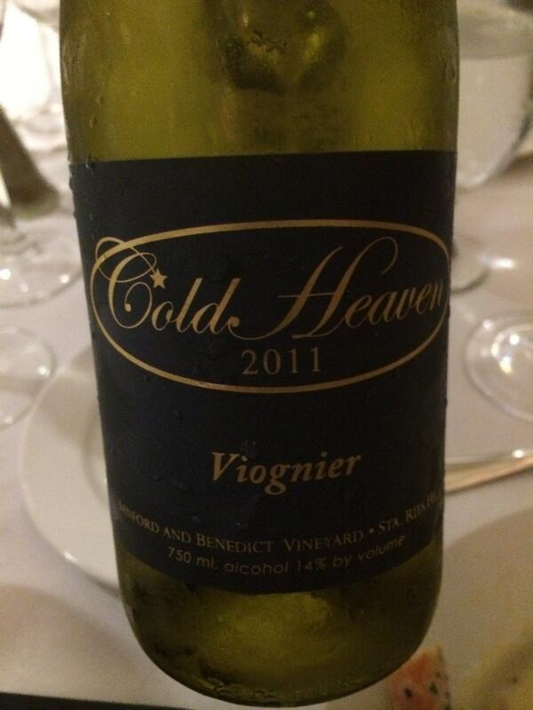 A benchmark in American Viognier - Cold Heaven Cellars Sanford & Benedict  Vineyard @morganclendenen #wbc14 http://t.co/pre8rfe41O