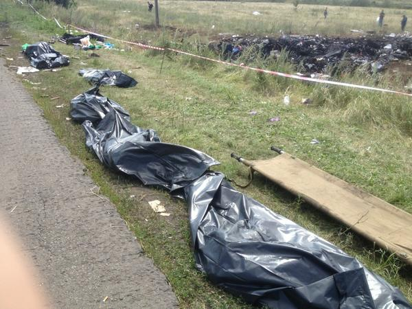 More bodies still at the site in bags. Very hot here. Day four. Won't describe smell. #MH17 http://t.co/3NjtDtLUkL