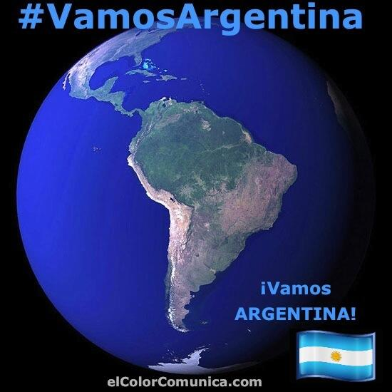@monterocnn @alejandraoraa Vamos Latinoamerica! Vamos #Argentina! @ElColorComunica Hoy TODOS #SomosArgentina #ARG http://t.co/YqtStkykFa