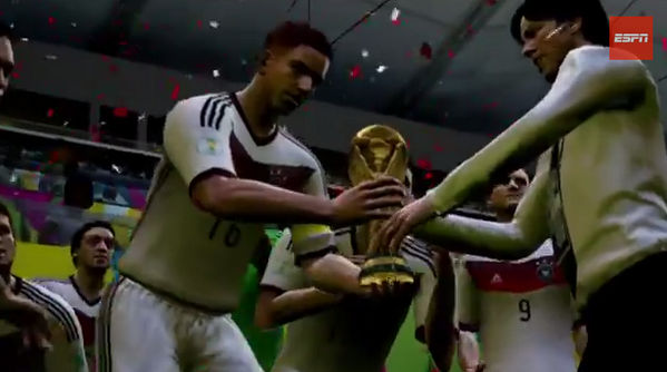 BsbXEOkCAAESuuN Germany beat Argentina 3 1 in World Cup Final with Thomas Müller double in FIFA 14 Simulation [Video]