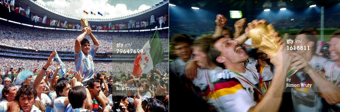 In 1986 #ARG beat Germany and in 1990 #GER beat Argentina. History repeats tonight, but who'll be in the picture? http://t.co/czZq0HrOus