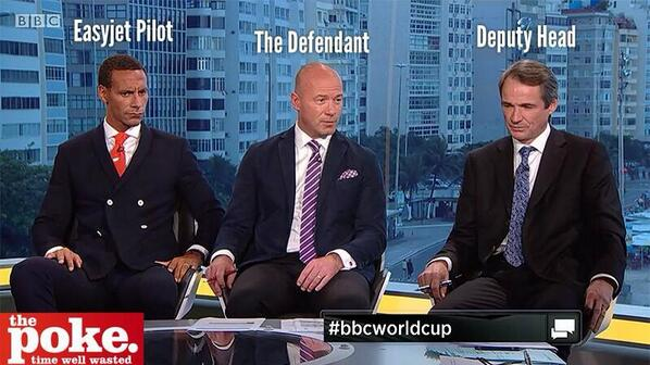 Great picture analysis of the football commentators' dress sense... #WorldCupFinal http://t.co/0ptR23a6VF
