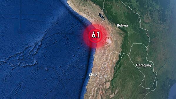 URGENTE: Sismo de magnitud 6,1 sacude #Chile http://t.co/eAhBfdc5EU http://t.co/hFuJo3GPG7