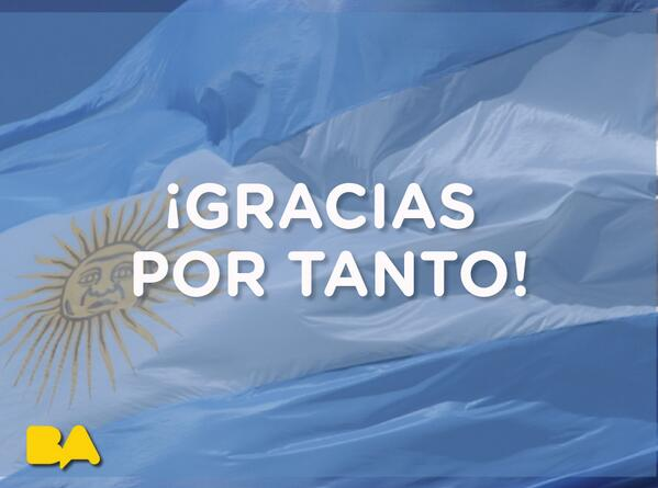 ¡Gracias @argentina! #VamosArgentina #ARG #ARGvsGER http://t.co/6SipBsRdKC