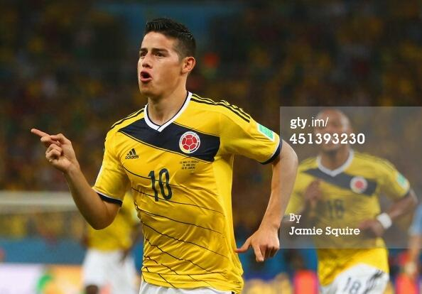 #JamesRodriguez of #COL wins the #GoldenBoot for most goals scored, scoring in each match he played in. http://t.co/S4tL4gayKA