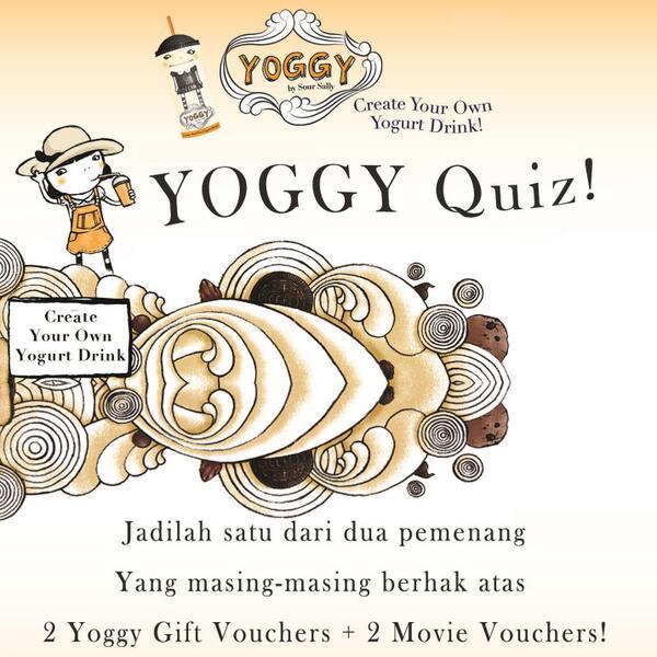 Siap buat #YOGGYquiz lagi? Buat yang rajin ngikutin cerita kami soal Yoggy, pasti bisa menang dengan mudah nih.