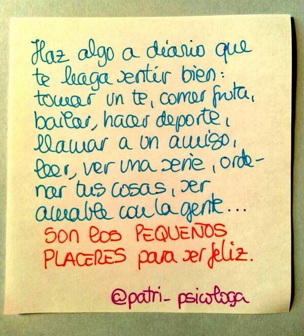 Los pequeños placeres ... #ésos  (@Patri_Psicologa) http://t.co/Ie4DU96FRf