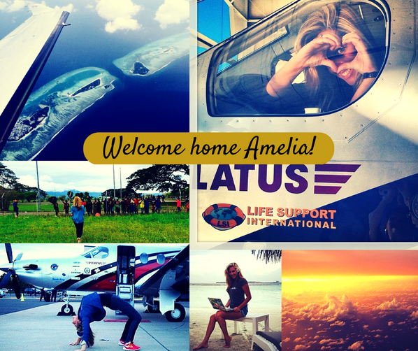 We are proud to have been part of such a great adventure! Welcome home @Amelia__Earhart! #flywithamelia http://t.co/Nklqbz0Trp
