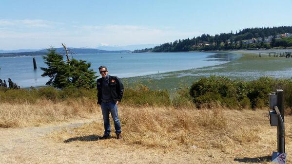 Just got to Anacortes Ferry terminal Seems to be a really cool little harbor town #rikisride