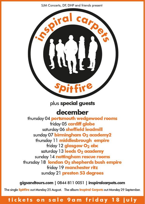Hi All Here are our December dates, on sale Friday 9am. See you there! http://t.co/weZuHVjOjD