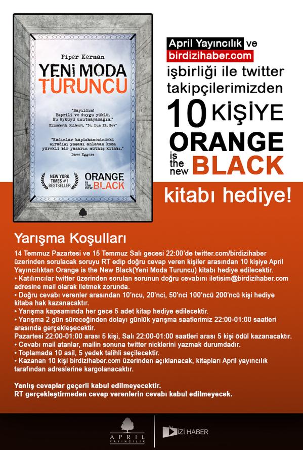 Orange is the New Black dizisinde geçen hapishanenin ismi nedir? Tweeti RT et cevabı iletisim@birdizihaber.com'a at http://t.co/22jIgh9LGa