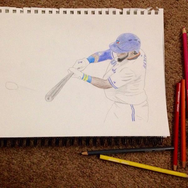 Picture I drew of @lamelaza_7 #toronto #faveplayer #bluejays #baseball #drawing http://t.co/mdsBHPh64F