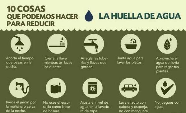 10 cosas que podemos hacer para reducir el gasto de agua #HuelladelAgua ¡Cuida este recurso vital y #Salvalatierra! http://t.co/dul0AMwFXd