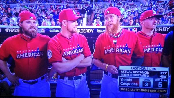 A's boys getting some TV time http://t.co/W9t3gGWaB7