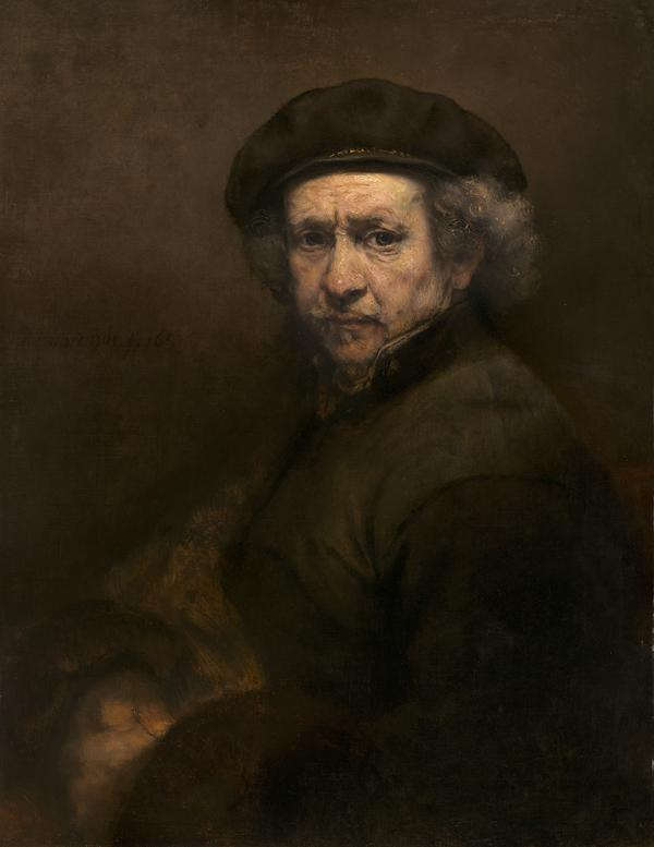 #HappyBirthday Rembrandt born #OnThisDay in 1606. He was 53 years old when he painted this self-portrait in 1659. http://t.co/2fKtS1n4yQ