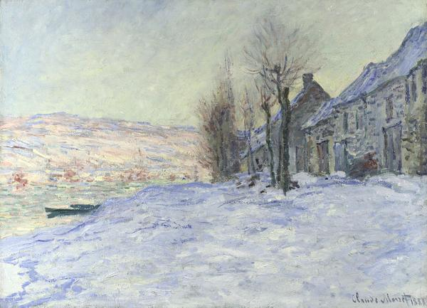 Why did Monet paint his snow BLUE? Does it make you feel colder? Visit 'Lavacourt under Snow' in #MakingColour now! http://t.co/LrE2FL3FCM
