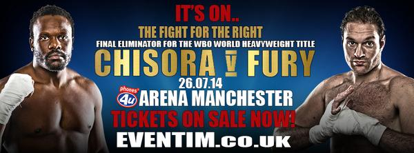 Another competition today to win a pair of tickets for Chisora v Fury. x3 pairs up for grabs RT2 enter!! http://t.co/b9zINrcZ2j