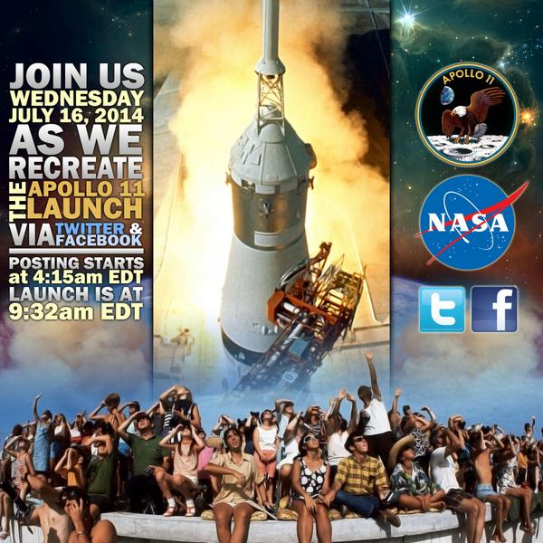 MT @nasakennedy Ever imagined what it would be like to have social media during Apollo? Tune in tomorrow to find out. http://t.co/G6basJL8fz