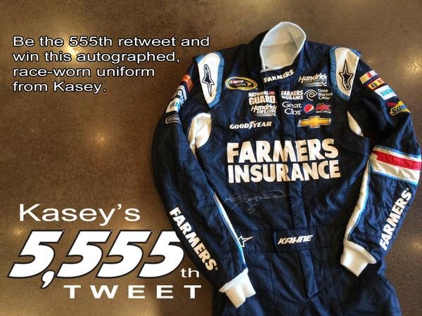 The 555th RT wins this autographed race-worn uniform. #Kahne5555 http://t.co/J8QJeURwgD