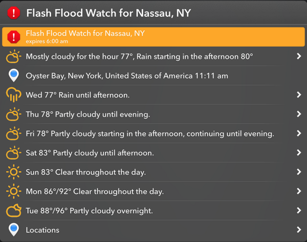 forecast weather @LaunchBar action https://t.co/D6hSOGCsfO backed by @darkskyapp http://t.co/kGFgpQbt5c http://t.co/W5Nj45v08F
