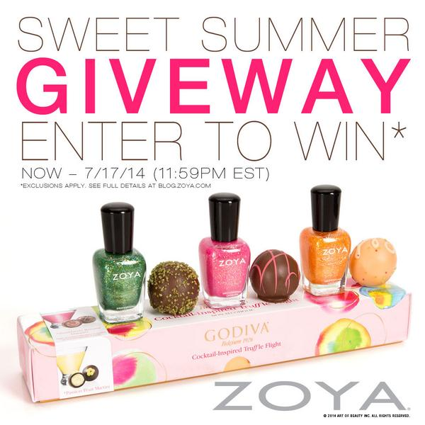 Retweet for a chance 2 win a @GODIVA treat from #ZoyaNailPolish! #sweetsummergiveaway Deets: http://t.co/mlsN3Ig4F6 http://t.co/MdMWBbD1NN
