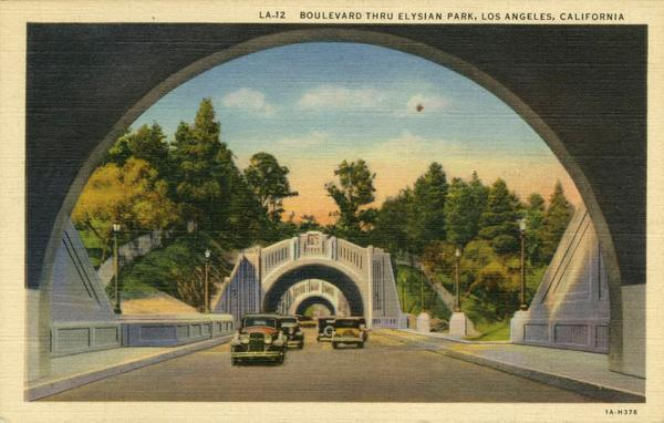 Those tunnels on the 110 freeway near Elysian Park? They used to be part of Figueroa Street. http://t.co/0QRoAHHVVi http://t.co/A1Bxg3BRib