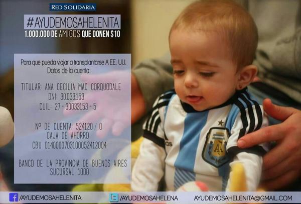 Nunca se los pido pero hoy SI. RT para esta campaña #AyudemosaHelenita http://t.co/BCXHyy1GR0