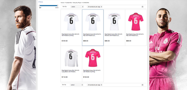 BsnBcRnCMAAofvT Sami Khediras shirt has gone from Reals club shop amid Arsenal & Chelsea talks, but is it photoshopped?
